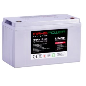 Makspower 200 AH 12 volt LiFePO4 Batteri BMS 150 Ampere- Bluetooth