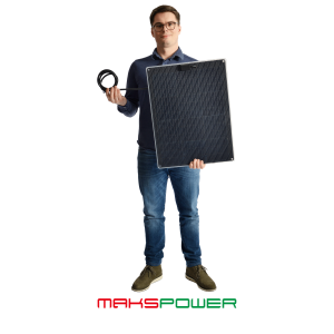 Makspower 40 Watt Semirigid Solcellepanel SunPower Maxeon generation 3 (MØRK)