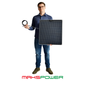 Makspower 55 Watt Semirigid Solcellepanel SunPower Maxeon generation 3 (MØRK)