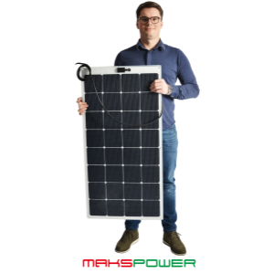 Makspower 80 Watt Semirigid Solcellepanel SunPower Maxeon generation 3 (MØRK)