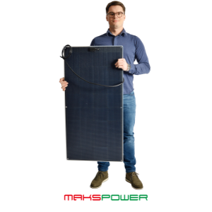 Makspower 105 Watt Semirigid Solcellepanel SunPower Maxeon generation 3 (MØRK)