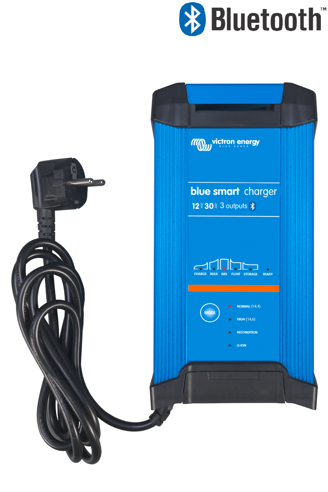 Victron Blue Smart IP22 Charger 12 volt 30 ampere, tre utganger og Bluetooth