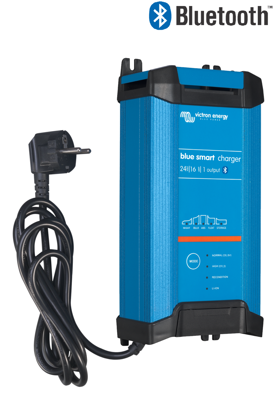 Victron Blue Smart IP22 Charger 24 volt 16 ampere batterilader med 3 utganger og Bluetooth